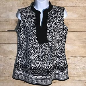 Charter Club black and white floral top Size S/P